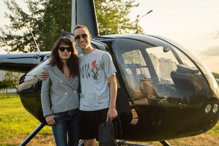 полет на вертолете на двоих